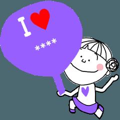 大好きな人に送るカスタムスタンプ*紫