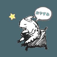 可愛い鳥獣戯画in蛙