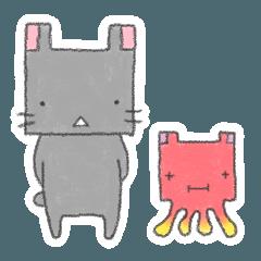 四角いウサギ