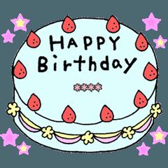 誕生日おめでとう&ありがとう(カスタム)