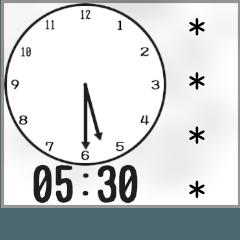 【カスタム】時刻・時間連絡用(アナログ)