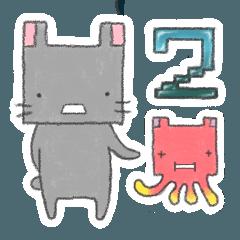 四角いウサギ2