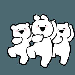 [LINEスタンプ] すこぶる動くちびウサギ&クマ【ダンス】