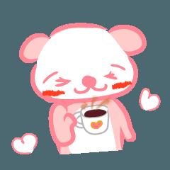 ピンクくま 日常生活