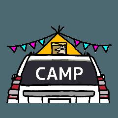 [LINEスタンプ] ボブの車スタンプ 旧白1 (1)