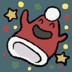 サンタ帽さんの冬スタンプ