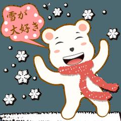 冬だ、焼き芋、雪だ、こたつだ