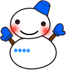 可愛い雪だるまのカスタムスタンプ