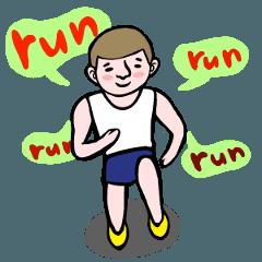 [LINEスタンプ] Run run run run !